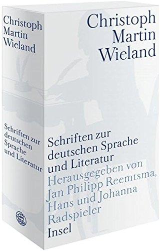 Werke in Einzelausgaben: Schriften zur deutschen Sprache und Literatur