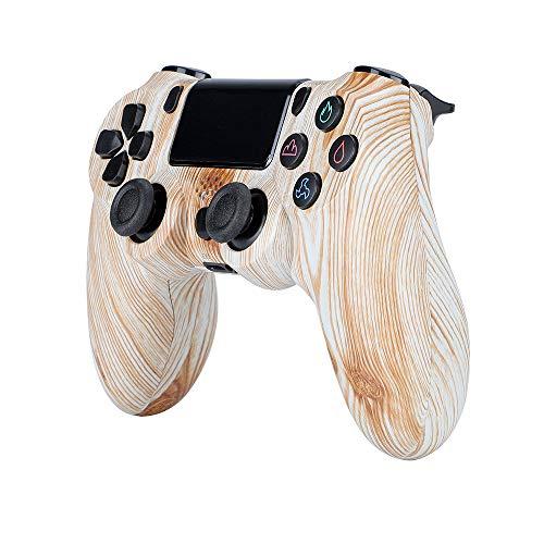 Mando para PS4, Controlador de Juegos Inalámbrico Bluetooth con Vibración Doble / 6-Ejes/Puerto de Audio, Joystick Gamepad Compatible con Playstation 4/Pro/Slim