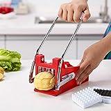 Iraza - Taglia patatine fritte professionale, in acciaio inossidabile, taglia patatine fritte in acciaio inox, per patatine dolce, cetrioli, carote