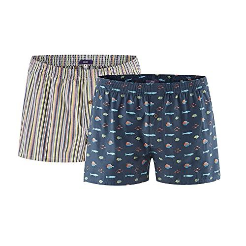 Living Crafts Boxer-Shorts, 2er Pack L, Ocean Life