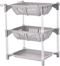 Cuisine écologique Organisateur PP Support de rangement avec étagère mobile panier Salle de bain Cuisine Réfrigérateur éta...