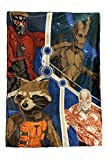 Marvel Guardians of The Galaxy Plush Blanket 62'x90' 100% Polyester - Super Soft & Cozy