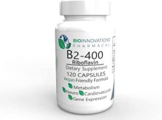 Sponsored Ad - Bio-Innovations Pharmacal - Pure B2-400 Riboflavin (120 Vegan Capsules) Supports Nervous System Health, Hel...