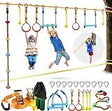 S SMAUTO Slackline Kids 15m Ninja Line Set