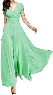 799e0cdf55 Elevin(TM) Women Wedding Party Long Dresses Evening Gown Mermaid Chiffon V Neck  with