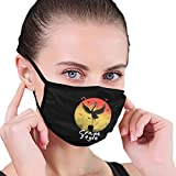 Unisex Face Mouth Mask Crane Style Outdoor Dust Mask for Camping Travel Anti-Dust Black
