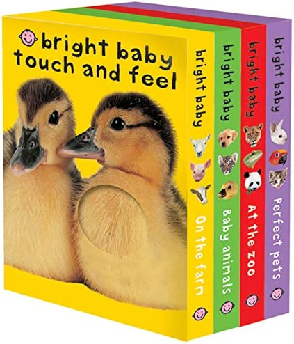 Bright Baby Touch Feel Boxed Set On the Farm Baby Animals At the Zoo and Perfect Pets Bright product image
