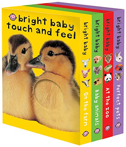 Bright Baby Touch & Feel Boxed Set: On the Farm  Baby Animals  At the Zoo and Perfect Pets (Bright Baby Touch and Feel)