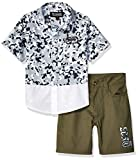 Ecko Boys' Little Sleeve Printed Woven Shirt and Short Set, Legion White, 7