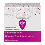 Summer's Eve Simply Sensitive Cleansing Cloths for Sensitive Skin, 16 count