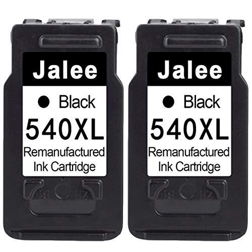 Jalee 2× Negro Cartuchos de tinta refabricado para usar en lugar de Canon PG-540 XL Compatible para Canon PIXMA TS5150 TS5151 MG2150 MG2250 MG3150 MG3250 MG3550 MG3650 MG4150 MG4250 MX535 MX395 MX475
