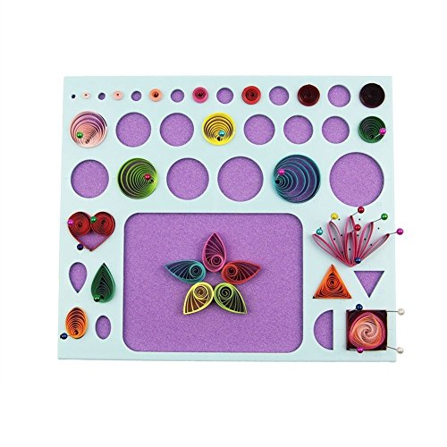YURROAD 3 in 1 Paper Quilling Template Board Tool
