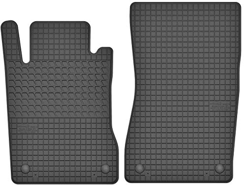 Motohobby Gummimatten Vorne Gummi Fußmatten Satz für Mercedes-Benz E-Klasse W211 / CLS C219 (2002-2009) - 2-teilig - Passgenau