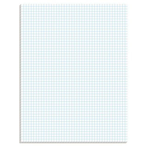 Ampad Efficiency Quadrille Pad, 8-1/2 x 11, White, 5x5, 50 Sheets per Pad, 10 Pads per Pack (22-032C)