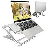 ELZO Soporte Plegable de Aluminio para Ordenador Portátil de hasta 17', Soporte de Portátil Ajustable, Laptop Stand para 11-17 Pulgadas MacBook/Ordenadores, Hecho de Aleación de Aluminio