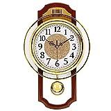 Orologio Da Parete A Pendolo Retrò Per Soggiorno, Europeo Vintage Silenzioso Swing Impiccagione Orologio A Muro, Antico Non Ticchettio Orologio Al Quarzo Di Qualità Oggettistica Casa