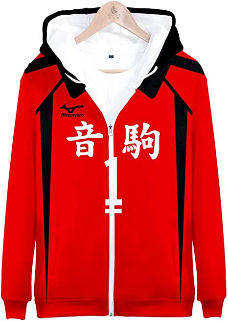 akaashi Keiji Sweat manches longues veste sweat à capuche Pull Top Anime Haikyu!!