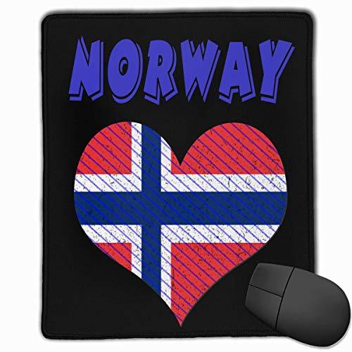 Accessori per computer Mousepad in gomma rettangolare antiscivolo Bandiera della Norvegia 18 x 22 cm