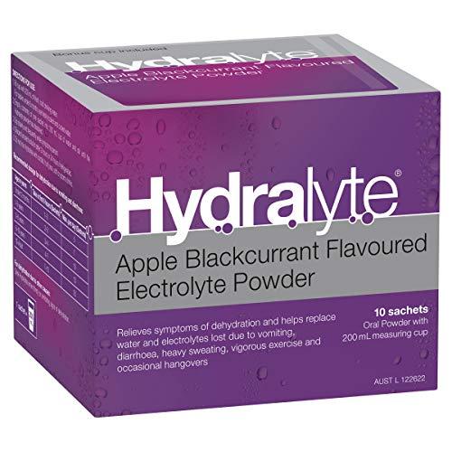 Hydralyte Electrolyte Powder Apple Blackcurrant, 10 Sachets 10 Sachets, Apple Blackcurrant 49 grams