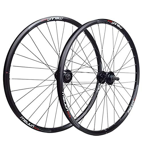 TYXTYX 20/26 Inch Bicycle Wheelset,Double Wall Wheel Set Aluminum Alloy V/disc Brake Mountain Bike Rotary Hub
