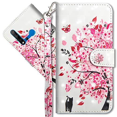 MRSTER Honor 20 Lite Handytasche, Leder Schutzhülle Brieftasche Hülle Flip Hülle 3D Muster Cover mit Kartenfach Magnet Tasche Handyhüllen für Huawei Honor 20 Lite. YX 3D - Tree Cat