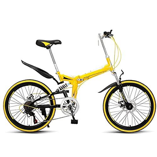 COUYY Bicicleta para niños Suspensión de la Bicicleta de montaña de 22 Pulgadas Adultos para la Bicicleta de aleación Ligera de la Bicicleta,Amarillo