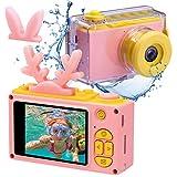 Kids Digital Cameras for Boys Girls HD 1080P Video Camera for Kids Children Selfie Camera Kids Toy Cameras Mini Child Camcorder for Age 6+ Boys/Girls Pink
