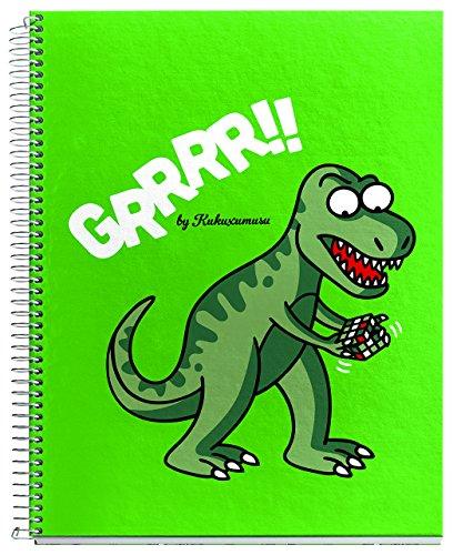 Kukuxumusu 2779 - Cuaderno 4 colores, A5, 120 hojas, cuadricula