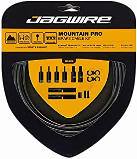 Jagwire - Mountain Pro Brake DIY Cable Kit | for MTN Bike with Disc or V-Brakes | SRAM and Shimano Brake Compatible, Polished Stainless Bicycle Cables, 10 Color Options