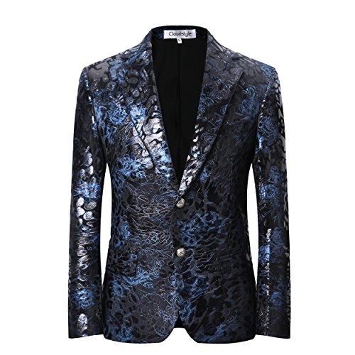 남자 스포츠 코트 디너 재킷 슬림핏 파티 슈트 블레이저