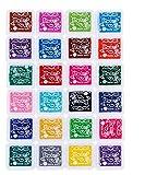 Yongbest Almohadillas de Tinta,24 Colores Tinta Sellos Colores para Tela Artesanal de Papel,Libro de Recuerdos,Fabricación de Tarjetas de Sello de Arte de Goma