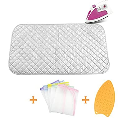 Ironing Blanket Ironing Mat,Upgraded Thick Portable Travel Ironing Pad,Heat Resistant Pad Cover for Washer,Dryer,Table Top,Countertop,Ironing Board for Small Space (18.9 x 33.5 inch)