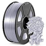 PLA Silk Filament 1.75mm, JAYO 3D Printer Filament 1KG Shiny Silky Shine Metallic PLA, Silk Silver