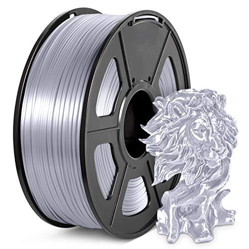 PLA Silk Filament 1.75mm, JAYO 3D Drucker Filament 1KG Shiny Silky Shine PLA Silk Silber