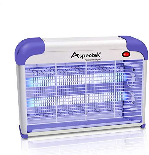 ASPECTEK Lampe Anti Moustique Electrique - Lampe UV Tue Mouches Eléctrique Destructeur Tueur D' Insectes Electrique 20W, Fly Killer,Tue Mouche Eléctrique,Pièges à Moustiques Mouche Efficace(EU Plug)