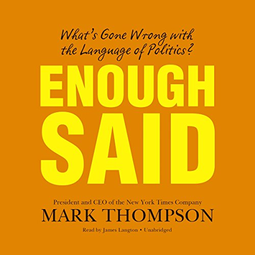 Enough Said audiobook cover art