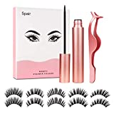 UNEEDE Magnetic Eyeliner and Eyelash Kit, Waterproof Magnetic Eyeliner with 5 Pair No Glue Reusable False Lashes for Party Dating Wedding Valentines Day Gift