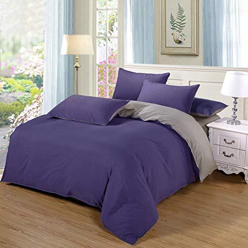 huyiming bed linings Utilizzato per dormitorio Studentesco a Quattro Pezzi in Tinta Unita 1,8 m/Copripiumino 180 + Lenzuola 230 + Due Federa