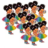 Set of 6, 3 girls facing right and 3 girls facing left ,lollipop princess cutouts These lollipop princess cutouts perfect for princess birthday, royal baby shower and more. Lollipop girl 9 inches tall