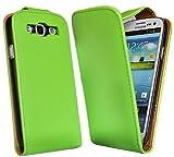 Accessory Master 5055403864426 - Funda tipo libro con tapa para Samsung Galaxy S III i9300 (piel), color verde