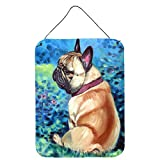 Caroline's Treasures 7313DS1216 Fawn French Bulldog in Flowers Wall or Door Hanging Prints, 12x16, Multicolor