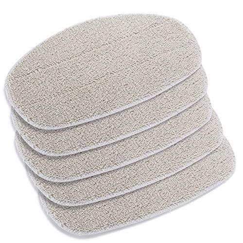 Supremery 5X Ersatzpads für Leifheit Dampfreiniger CleanTenso, Dampfbesen Wischbezug für eine porentiefe Reinigung, Dampfmop Ersatz mit Klettunterseite