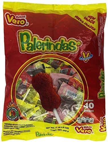 Palerindas Tamarind Flavored Mexican Suckers 40 Count by Dulces Vero