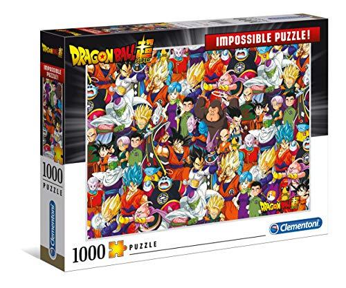 Clementoni 39489 Clementoni-39489-Impossible Puzzle-Dragon Ball-1000 Teile, Mehrfarben