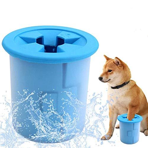 Limpiador Portátil para Patas de Perro Lavadora de Pies para Mascotas Cepillo de Limpieza para Mascotas Taza para Perros Pequeños Cepillo de aseo Taza Lavado rápido Patas Embarradas (Color aleatorio)