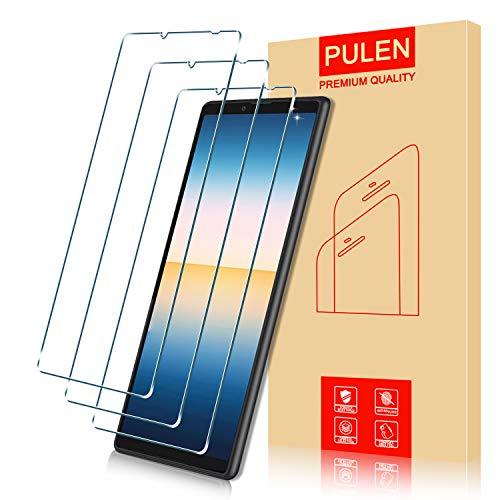PULEN Panzerglas Schutzfolie für Sony Xperia 10 III [3 Stück], 2.5D Panzerfolie Glass [9H Festigkeit][Anti-Kratzen]Klar folie HD Bildschirmschutzfolie