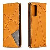 Hülle für Samsung Galaxy S20 FE/Lite 5G Lederhülle Flip Tasche Klappbar Handyhülle mit [Kartenfächer] [Ständer Funktion], Cover Schutzhülle für Galaxy S20 FE - JEBF090321 Gelb