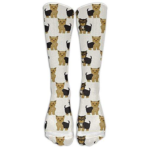 Yorkshire Terrier Cute Yorkie Dog Pet Knee High Graduated Compression Socks For Women And Men - Best Medical, Nursing, Travel & Flight Socks - Running & Fitness