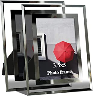 Giftgarden 3.5 x 5 Picture Frames for Photo 3.5x5, Glass Frame, 2 Pack