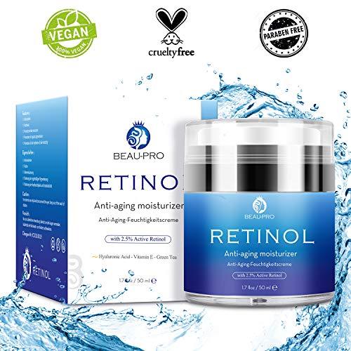 Retinol Creme für Gesicht und Augen,Gesichtscreme für Männer und Frauen,Feuchtigkeitscreme mit...